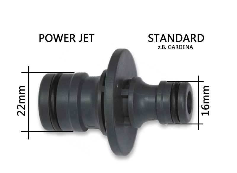 5x Profi Steckkupplung POWER JET Schlauchverbinder Schlauchanschluss 3//4 Zoll